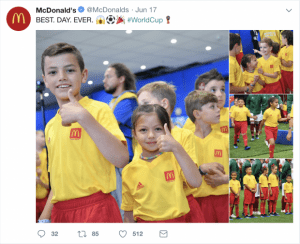 mcdonalds social media post