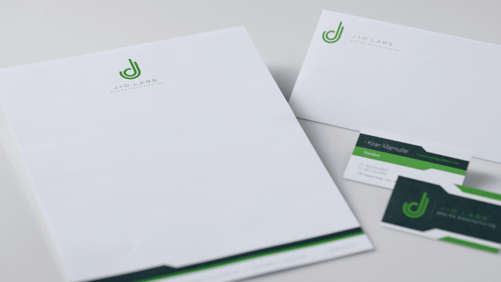 j+d labs branding materials