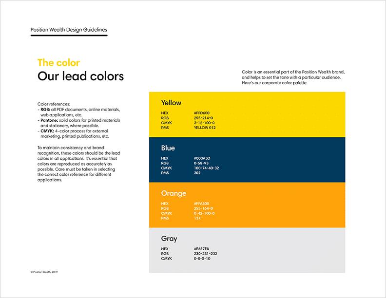 position wealth branding guide