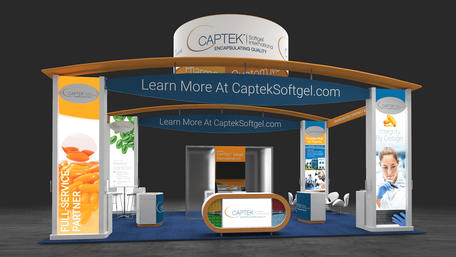 captek trade show booth design